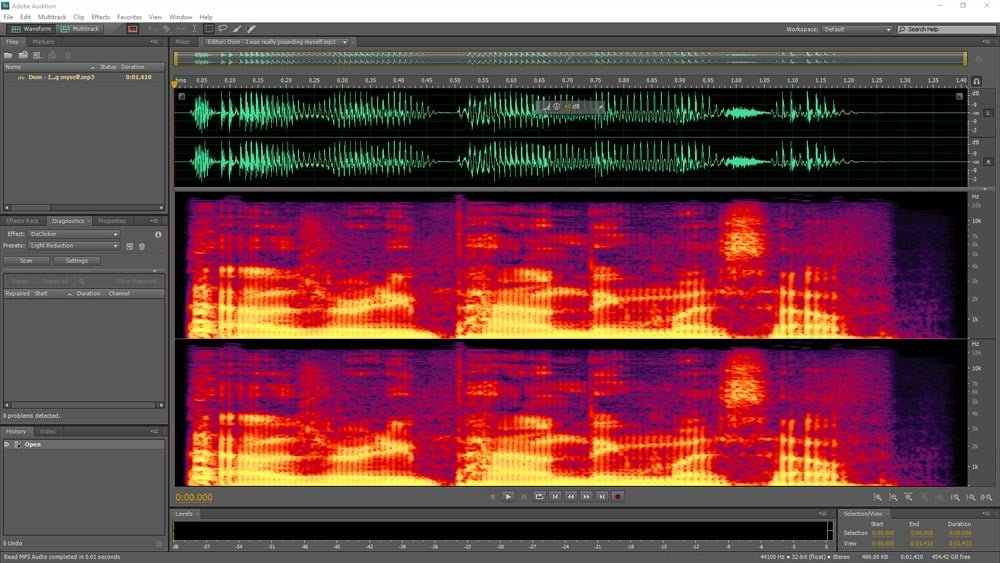 Edit sounds using software that looks much sexier than it really is
